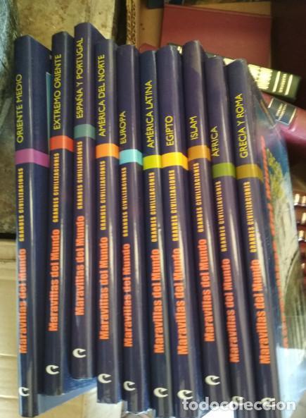 ENCICLOPEDIA DE 10 TOMOS, MARAVILLAS DEL MUNDO CULTURAL 2005, LIBROS (Libros de Segunda Mano - Geografía y Viajes)