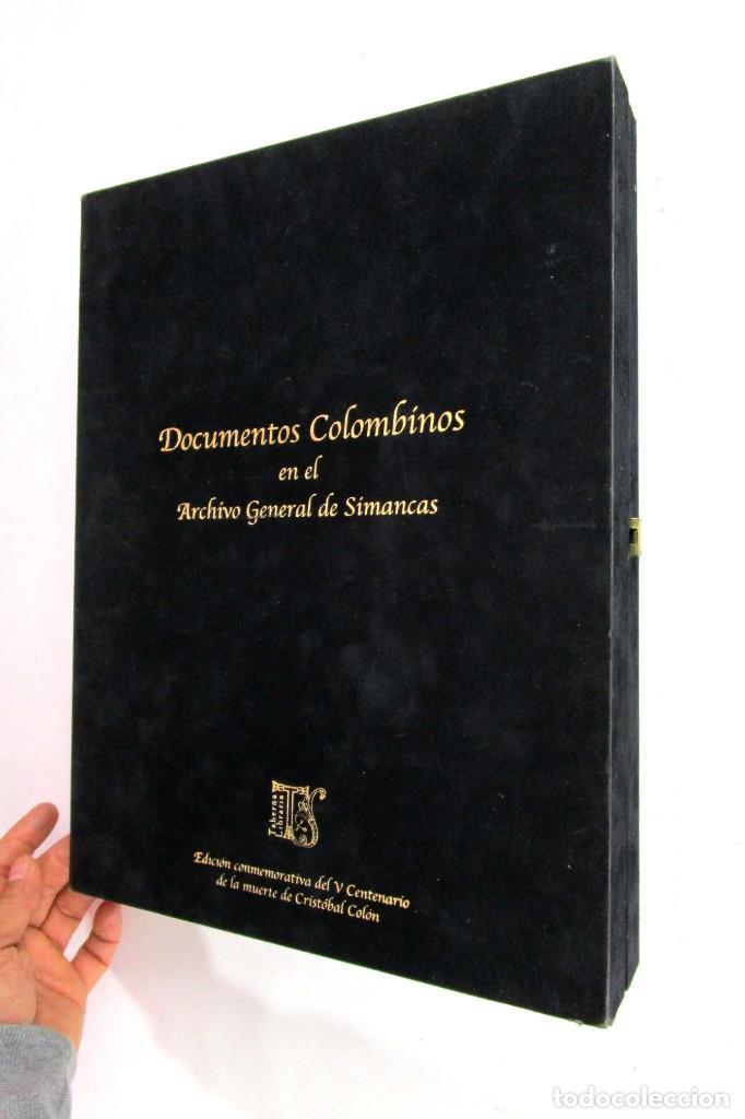 DE MUSEO! DOCUMENTOS COLOMBINOS EN EL ARCHIVO GENERAL DE SIMANCAS V CENTENARIO CRISTOBAL COLON (Libros de Segunda Mano - Geografía y Viajes)