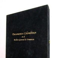Libros de segunda mano: DE MUSEO! DOCUMENTOS COLOMBINOS EN EL ARCHIVO GENERAL DE SIMANCAS V CENTENARIO CRISTOBAL COLON. Lote 138683706