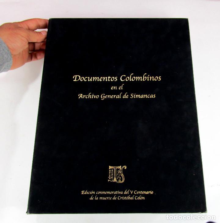 Libros de segunda mano: DE MUSEO! DOCUMENTOS COLOMBINOS EN EL ARCHIVO GENERAL DE SIMANCAS V CENTENARIO CRISTOBAL COLON - Foto 3 - 138683706