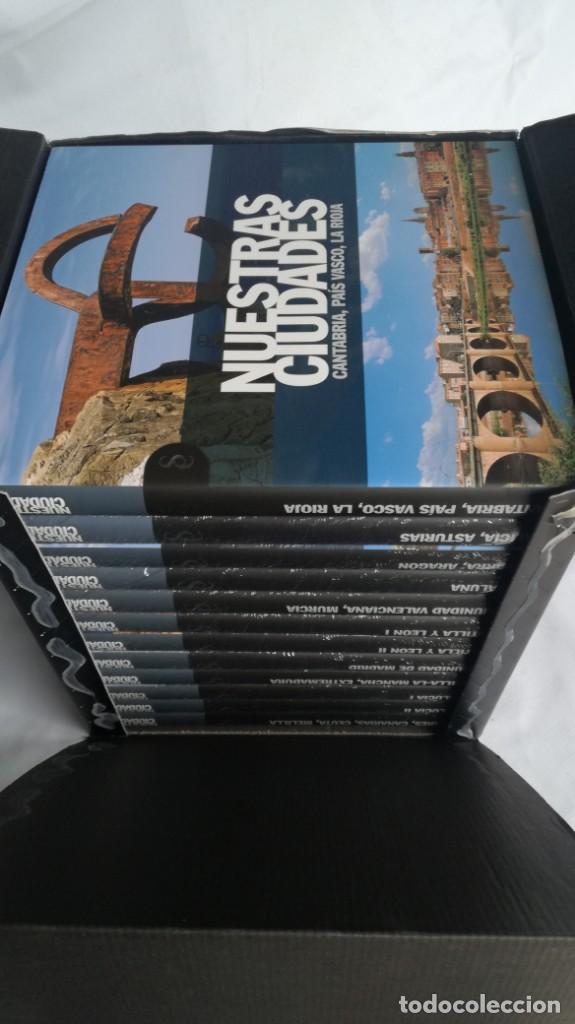 NUESTRAS CIUDADADES-12 TOMOS COMPLETA-SIGNO EDITORES-NUEVA LA MAYORÍA PRECINTADOS DE ORIGEN (Libros de Segunda Mano - Geografía y Viajes)