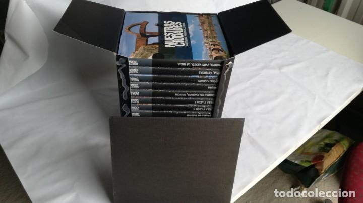 Libros de segunda mano: NUESTRAS CIUDADADES-12 TOMOS COMPLETA-SIGNO EDITORES-NUEVA LA MAYORÍA PRECINTADOS DE ORIGEN - Foto 2 - 138698098