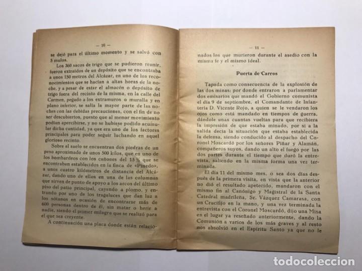 Libros de segunda mano: LAS GLORIOSAS RUINAS DEL ALCAZAR DE TOLEDO - POR EUGENIO MARTÍN - AUTÓGRAFO DEL AUTOR - AÑO 1958 - Foto 5 - 113873471