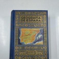 Libros de segunda mano: GEOGRAFÍA DE ESPAÑA (SEGUIDA DE UN RESUMEN DE GEOGRAFÍA PORTUGUESA) BLÁNQUEZ FRAILE, AGUSTÍN. TDKLT. Lote 142077450