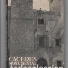 Libros de segunda mano: CÁCERES MONUMENTAL. CARLOS CALLEJO. TOMO XXV. Lote 142577546