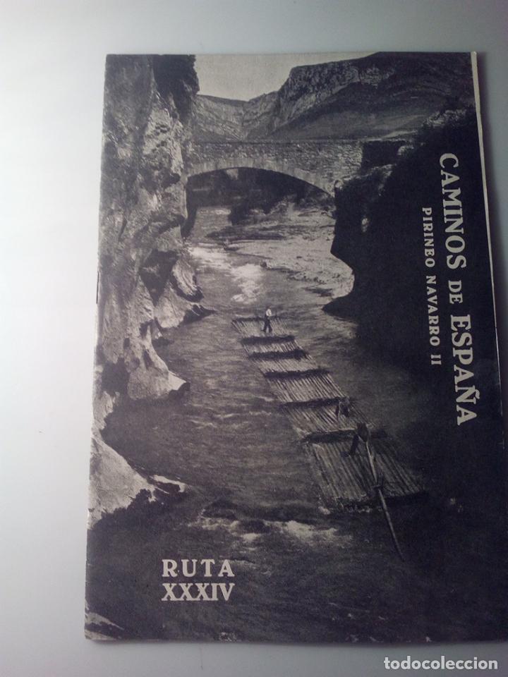 ANTIGUA GUIA TURISTICA CAMINOS DE ESPAÑA PIRINEO NAVARRO (Libros de Segunda Mano - Geografía y Viajes)