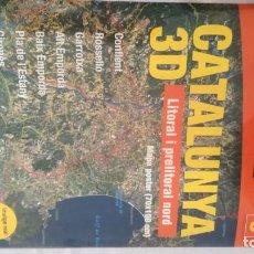 Libros de segunda mano: CATALUNYA MAPA 3D PIRINEU LITORAL PRELITORAL NORD 70X100 CM-GEOESTEL 3-NUEVO. Lote 142963582