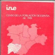 Libros de segunda mano: CENSO DE LA POBLACIÓN DE ESPAÑA DE 1981. NOMENCLATOR PROVINCIA DE SALAMANCA. Lote 143115516