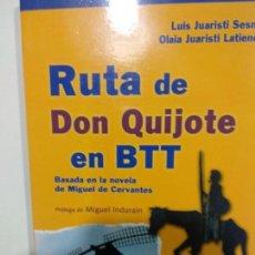 Libros de segunda mano: RUTA DE DON QUIJOTE EN BTT INDURAIN, MIGUEL. Lote 143217186