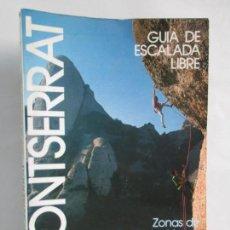 Libros de segunda mano: GUIA DE LA ESCALADA LIBRE. ZONAS DE SAN BENET, LOS VAGOS Y GORROS. TONI JIMENEZ. MONTSERRAT.DESNIVEL. Lote 143396694