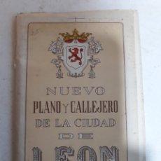 Libros de segunda mano: NUEVO PLANO Y CALLEJERO DE LA CIUDAD DE LEON. Lote 143729942