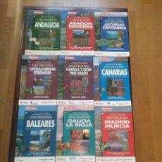 Libros de segunda mano: LOTE 10 GUIAS LO MAS NATURAL DE ESPAÑA.. Lote 148910088