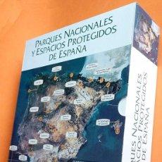 Libros de segunda mano: PARQUES NACIONALES Y ESPACIOS PROTEGIDOS DE ESPAÑA - 24 CUADERNOS EN CAJA - 1999 - NUEVO. Lote 148303010