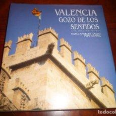 Libros de segunda mano: VALENCIA GOZO DE LOS SENTIDOS.2000, MªANGELES ARAZO, FOTOGRAFIA PEPE SAPENA 250PP 30X29. Lote 150195322