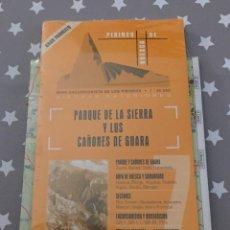Libros de segunda mano: GUIA MAPA PARQUE DE LA SIERRA Y LOS CAÑONES DE GUARA,. Lote 150840886