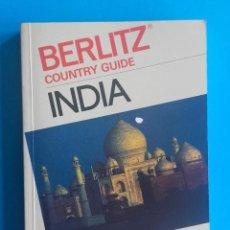 Libros de segunda mano: INDIA. COUNTRY GUIDE. 1989-90 BERLITZ. PRECIO EN PÁGINA DE CORTESÍA. 256 PÁG. EN INGLÉS. 10 X 14,5 . Lote 151565266