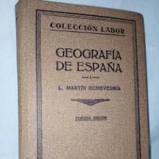 Libros de segunda mano: GEOGRAFÍA DE ESPAÑA (COLECCIÓN LABOR) TERCERA EDICIÓN DE 1937 - SECCIÓN VII GEOGRAFÍA N° 1 - Nº 144. Lote 152310378