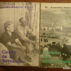 Libros de segunda mano: GENTE DE LA SERRANIA-GENTE DEL MAESTRAZGO,VALENCIA, Mª ANGELES ARAZO.1968-70, 1ª EDIC. DOS TITULOS. Lote 152387494