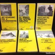 Libros de segunda mano: LOTE DE 6 LIBROS DE LA COLECCION LLIBRE DE MOTXILLA, PUBLICACIONS DE L' ABADIA DE MONTSERRAT. Lote 153974550