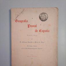 Libros de segunda mano - GEOGRAFIA POSTAL DE ESPAÑA. ALFONSO GARRIDO Y PEREZ DE TENA. MADRID 1955. TDK379 - 158682330