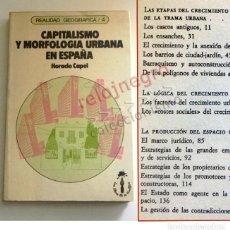 Libros de segunda mano: CAPITALISMO Y MORFOLOGÍA URBANA EN ESPAÑA - LIBRO HORACIO CAPEL - GEOGRAFÍA URBANISMO ESPACIO CIUDAD. Lote 160152294