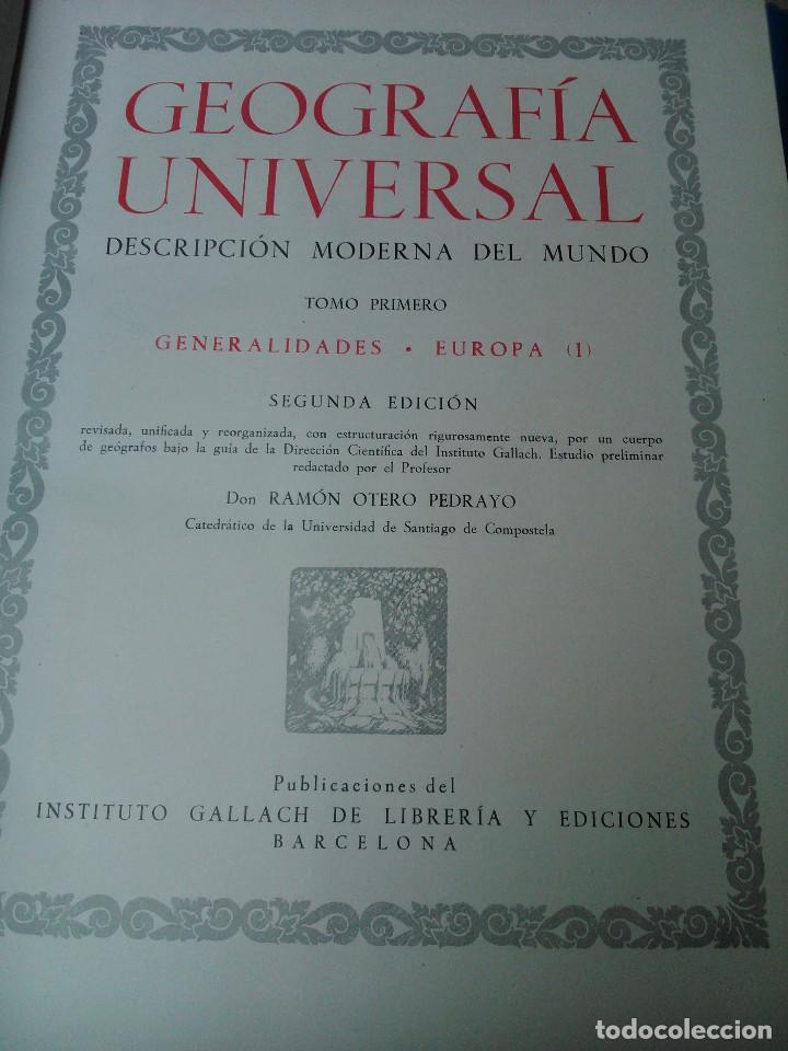 Libros de segunda mano: Geografía Universal - Foto 5 - 160930758