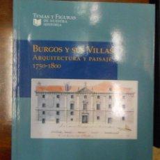 Libros de segunda mano: BURGOS Y SUS VILLAS ARQUITECTURA Y PAISAJE 1750-1800.. Lote 162685390