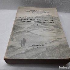 Libros de segunda mano: INVENTARIO NACIONAL DE PAISAJES SOBRESALIENTES. Lote 163712898