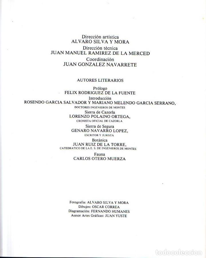 Libros de segunda mano: CAZORLA Y SEGURA. ALVARO SILVA Y MORA. 1976. - Foto 3 - 164094826