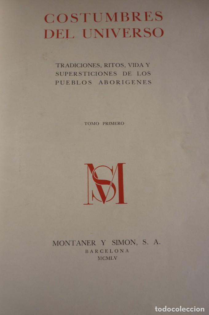 COSTUMBRES DEL UNIVERSO. COMPLETA. DOS TOMOS. MONTANER Y SIMON S.A. (Libros de Segunda Mano - Geografía y Viajes)