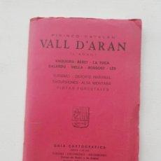 Libros de segunda mano: GUIA CARTOGRAFICA VALL D'ARAN PIRINEO CATALAN. Lote 168491182