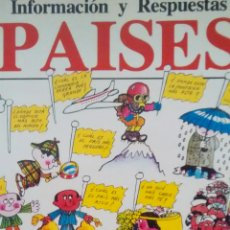 Libros de segunda mano: INFORMACION Y RESPUESTAS: PAISES. EL LIBRO DE LAS RESPUESTAS DE PAISES (PLESA). Lote 168622208