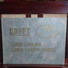 Libros de segunda mano: ALBUM FOTOGRAFICO EGYPT EGIPTO CAIRO, SAKKARA, LUXOR, KARNAK, THEBES POR LEHNERT & LANDROCK. Lote 168966524
