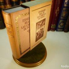 Libros de segunda mano: ITINERARIO REAL DE LAS CARRERAS DE POSTAS. ED. FACSIMIL DEL DE 1761. GRAN MAPA. MADRID. 1988.. Lote 169007776