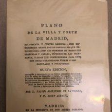 Libros de segunda mano: PLANO DE LA VILLA Y CORTE DE MADRID FAUSTO MARTÍNEZ DE LA TORRE Y JOSEF ASENSIO. Lote 169047501