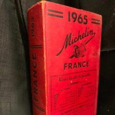 Libros de segunda mano: 1965, GUIA MICHELIN, FRANCE AÑO 1965 MIDE 20X11CMS Y 1.013PAGS. MUY BUEN ESTADO. Lote 169290608
