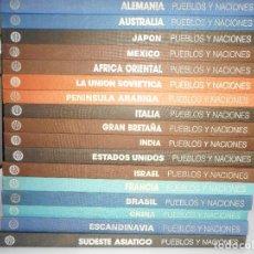 Libros de segunda mano: VV.AA PUEBLOS Y NACIONES(17 TOMOS) Y94918 . Lote 169879768
