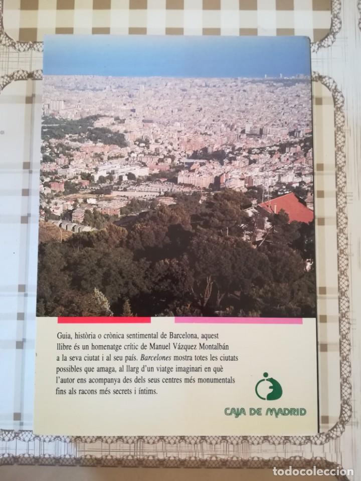 Libros de segunda mano: Barcelones - Manuel Vázquez Montalbán - en català - Foto 2 - 169912928