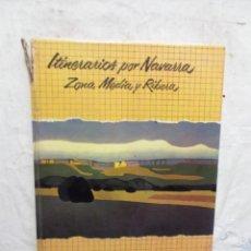 Libros de segunda mano: ITINERARIOS POR NAVARRA ZON MEDIA Y RIBERA. Lote 171616713