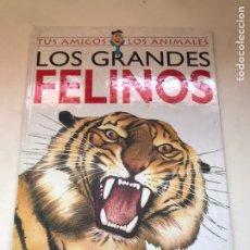 Libros de segunda mano: LOS GRANDES FELINOS - TUS AMIGOS LOS ANIMALES. Lote 171635742