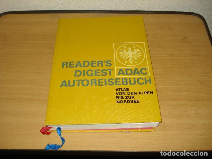READER'S DIGEST ADAC ATLAS DE LOS ALPES AL MAR DEL NORTE. VERLAG DAS BESTE GMBH. AÑO 1968. ALEMÁN (Libros de Segunda Mano - Geografía y Viajes)