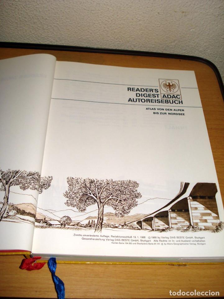Libros de segunda mano: READER'S DIGEST ADAC ATLAS DE LOS ALPES AL MAR DEL NORTE. VERLAG DAS BESTE GMBH. AÑO 1968. ALEMÁN - Foto 2 - 171711082
