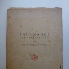 Libros de segunda mano: SALAMANCA GUÍA SENTIMENTAL POR DOMÍNGUEZ BERRUETA. IX. 1952. Lote 172133274