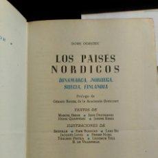 Libros de segunda mano: LOS PAISES NORDICOS. DINAMARCA, NORUEGA, SUECIA, FINLANDIA. - OGRIZEK, DORE.. Lote 173723795
