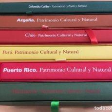 Libros de segunda mano: EDICIÓN GAS NATURAL - PATRIMONIO CULTURAL Y NATURAL - COLOMBIA, ARGELIA, CHILE, PERÚ, PUERTO RICO, M. Lote 174218157
