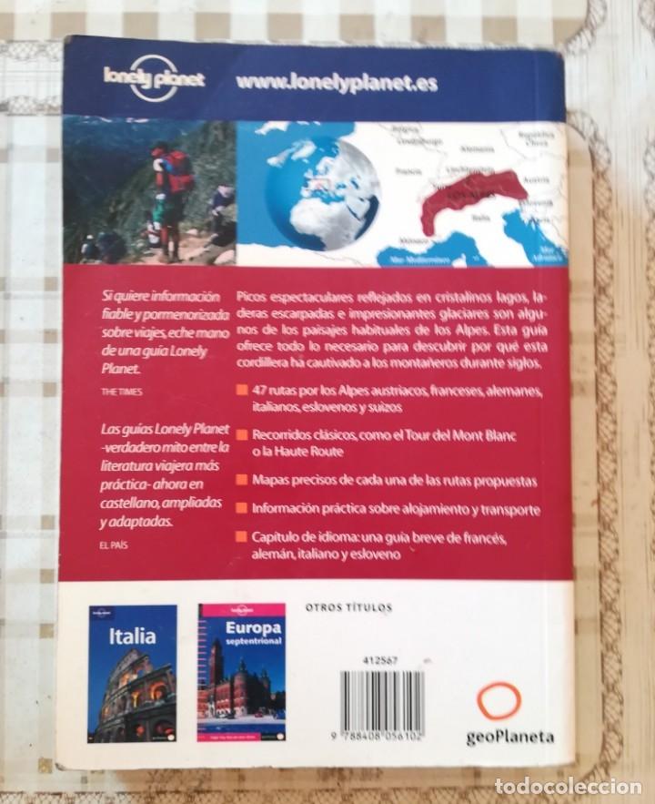 Libros de segunda mano: Trekking en los Alpes - Lonely Planet - 2004 - Foto 2 - 175015243