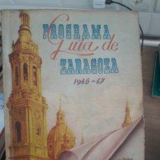 Libros de segunda mano: PROGRAMA GUIA DE ZARAGOZA, 1946, CON MAPAS. RARO. Lote 175818242