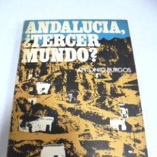 Libros de segunda mano: ANDALUCIA ¿TERCER MUNDO?. ANTONIO BURGOS. LOS LIBROS DE PEROGRULLO. 9. . Lote 176814134