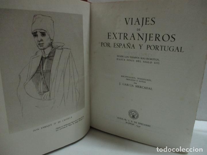 Libros de segunda mano: VIAJES DE EXTRANJEROS POR ESPAÑA Y PORTUGAL. Desde los tiempos más remotos, hasta fines del siglo XV - Foto 3 - 209672817