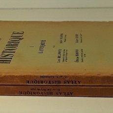 Libros de segunda mano: ATLAS HISTORIQUE. TOMOS I Y II. VV. AA. LES PRESSES UNIVERSITAIRES DE FRANCE. 1936/37.. Lote 178180091